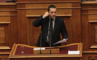 Ο βουλευτής της Χρυσής Αυγής Ηλίας Κασιδιάρης.