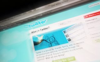 (FILES) This picture taken on July 20, 2009 in Paris shows the frontpage of Twitter, a leading Internet microblogging site. Turkey's prime minister accused Twitter on April 12, 2014 of tax evasion after the micro-blogging site was used to spread a number of damaging leaks implicating his inner circle in corruption scandals.