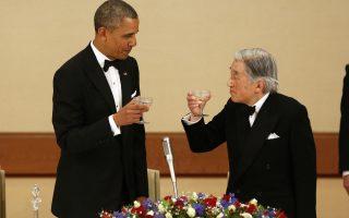 Ο Αμερικανός πρόεδρος Μπαράκ Ομπάμα διαβεβαίωσε τον Ιάπωνα πρωθυπουργό Σίνζο Αμπε για την προσήλωση των ΗΠΑ στις υπάρχουσες αμυντικές συμφωνίες.