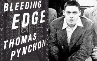 Το εξώφυλλο της αμερικανικής έκδοσης του νέου του μυθιστορήματος. Δεξιά, ο Τόμας Πίντσον σε μία από τις ελάχιστες φωτογραφίες του που κυκλοφορούν.