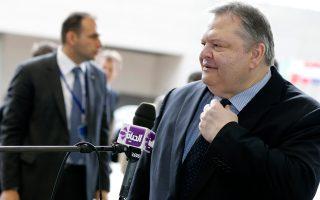 Ο υπουργός Εξωτερικών και αντιπρόeδος της κυβέρνησης Ευαγ. Βενιζέλος στη συνεδρίαση του Συμβουλίου των Υπουργών Εξωτερικών στις Βρυξέλλες