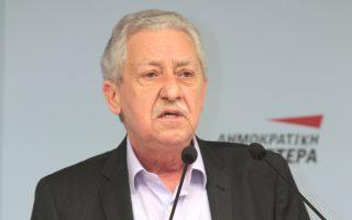 Ο κ. Φ. Κουβέλης έβαλε εκ νέου χθες κατά του κ. Ευ. Βενιζέλου με αφορμή τη δήλωσή του περί «παρασιτικής ΔΗΜΑΡ».
