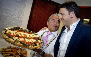 Πίτσα με το όνομα του Ρέντσι. Αν ήταν στο χέρι των εργαζομένων που θίγονται από την εργασιακή μεταρρύθμιση, η πίτσα θα ήταν... arrabbiata.