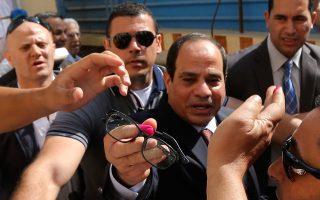 O επικρατέστερος υποψήφιος για την προεδρία της Αιγύπτου, Αλ Σίσι.