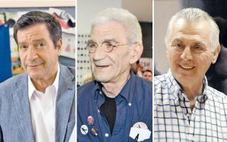 Γ. Καμίνης, Γ. Μπουτάρης, Α. Παχατουρίδης, οι νικητές σε Αθήνα, Θεσσαλονίκη και Περιστέρι.