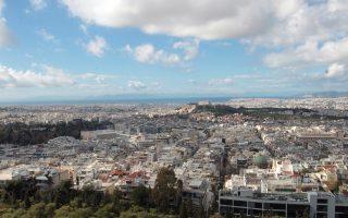 Αποψη της Αθήνας από τον λόφο του Λυκαβηττού.