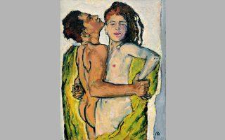 © Koloman Moser, Lovers, c. 1914. Leopold Collection II