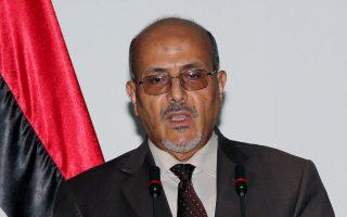 Ο εκπρόσωπος του πρωθυπουργού, Αχμαντ Λάμεν παραχωρεί συνέντευξη Τύπου στην Τρίπολη.