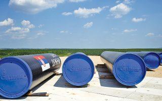 Εργασίες κατασκευής του αγωγού φυσικού αερίου Σάουθ Στριμ, στη Σερβία. Η διαδικασία διεκόπη στη Βουλγαρία.