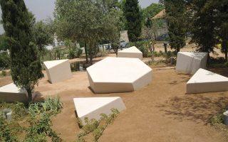 Το Μνημείο των Εβραίων Μαρτύρων στον Κεραμεικό, έργο της Ντιάνας Μαγγανιά.