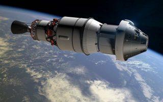 Καλλιτεχνική απεικόνιση της διαστημικής κάψουλας «Ορίων» που η NASA σκοπεύει να χρησιμοποιήσει για αποστολές στο απώτερο Διάστημα.