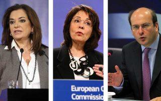 Μάχη για τη θέση του νέου Επιτρόπου της Ελλάδας στην Ευρωπαϊκή Ενωση θα δώσουν η Ντόρα Μπακογιάννη, η Μαρία Δαμανάκη και ο πρώην υπουργός Ανάπτυξης Κωστής Χατζηδάκης.