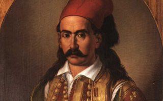 Ο Σουλιώτης οπλαρχηγός Μάρκος Μπότσαρης, ηγετική μορφή της Επανάστασης του '21 (Αθήνα, Εθνικό Ιστορικό Μουσείο).