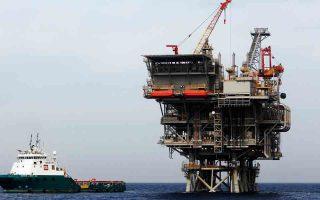 Πλατφόρμα στο κοίτασμα φυσικού αερίου Λεβιάθαν, στο Ισραήλ.