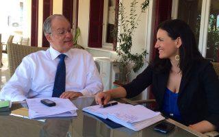 Η υπουργός Τουρισμού κυρία Όλγα Κεφαλογιάννη και ο υπουργός Πολιτισμού και Αθλητισμού κ. Κωνσταντίνος Τασούλας συνομιλούν σε συνάντηση που είχαν, στο υπουργείο Πολιτισμού