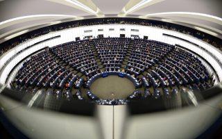 Ο εκλεγείς για δεύτερη θητεία πρόεδρος του Ευρωπαϊκού Κοινοβουλίου Μάρτιν Σουλτς μιλάει σε βουλευτές.
