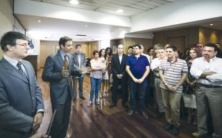 Ο υπουργός Διοικητικής Μεταρρύθμισης Κυριάκος Μητσοτάκης, κατά τη χθεσινή επίσκεψή του στο ΣΕΕΔ, ενημερώθηκε για την πορεία των δράσεων του Σώματος.