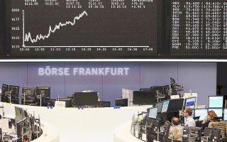 Στα δύο μεγαλύτερα ευρωπαϊκά χρηματιστήρια ο δείκτης Cac-40, στο Παρίσι, ενισχύθηκε κατά 1,48% και στη Φρανκφούρτη (φωτ.) ο Dax κατά 1,44%.