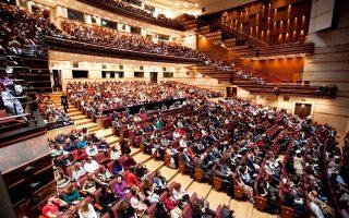 Η αίθουσα «Αλεξάνδρα Τριάντη», προϊόν της δεύτερης φάσης ανάπτυξης του ΜΜΑ, χωρητικότητας 1.750 θεατών.