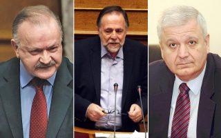 Οι κ. Δ. Σταμάτης, Π. Ρήγας και Χρ. Πρωτόπαπας συμμετείχαν στη χθεσινή σύσκεψη στο γραφείο του υπουρ- γού Επικρατείας με αντικείμενο, μεταξύ άλλων, την προώθηση των κυβερνητικών εκκρεμοτήτων.