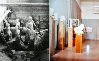 Το Εθνικό Αρχαιολογικό Μουσείο ετοιμαζόταν το 1974 να ξανακρύψει τα εκθέματά του όπως και στην Κατοχή (φωτ. αριστερά). Τελικά, φιλοξένησε έκθεση με κυπριακές αρχαιότητες που φυγαδεύτηκαν από το νησί (φωτ. δεξιά).