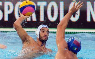 O Xρήστος Αφρουδάκης σημείωσε δύο τέρματα κόντρα στην Ιταλία.