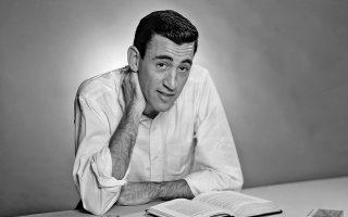 Ο Αμερικανός συγγραφέας J. D. Salinger.