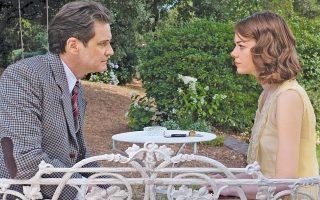 Ο Κόλιν Φερθ και η Εμα Στόουν σε μια σκηνή της νέας ταινίας του Γούντι Αλεν, «Magic in the Moonlight».