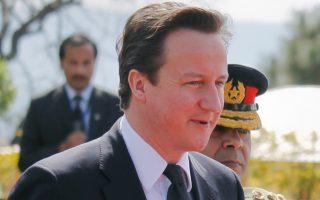 Ο Πρωθυπουργός της Βρετανίας Ντέιβιντ Κάμερον