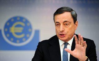 Ο πρόεδρος της ΕΚΤ Μάριο Ντράγκι.