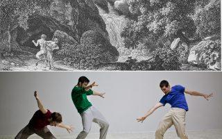 «Μείνε! Η Αρκαδία ως θέμα στη χαρακτική μεταξύ 1490 και 1830» από τη συλλογή χαρακτικών του Πανεπιστημίου της Τριέρ και χορός από τους Γιάννη Μανταφούνη, Φαμπρίς Μαζλιά και Μάι Ζάρι.
