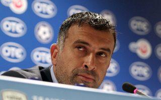 Ο προπονητής του Παναθηναϊκού Γιάννης Αναστασίου.