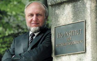 O επικεφαλής του έγκριτου οικονομικού ινστιτούτου Ifo, Χανς - Βέρνερ Ζιν.
