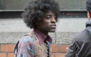 Ο Andre ως Jimi Hendrix κατά τη διάρκεια των γυρισμάτων της ταινίας