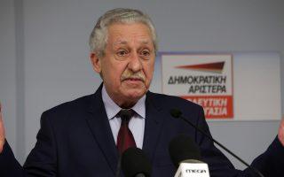 Ο πρόεδρος της ΔΗΜΑΡ Φώτης Κουβέλης κάνει δηλώσεις, ενόψει των εκλογών της 25ης Μαΐου 2014, στα γραφεία του κόμματος, Παρασκευή 23 Μαϊου 2104. ΑΠΕ - ΜΠΕ/ΑΠΕ - ΜΠΕ/Αλέξανδρος Μπελτές