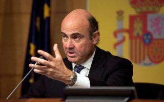 Ο υπουργός Οικονομίας της Ισπανίας Λουίς ντε Γκίντος.