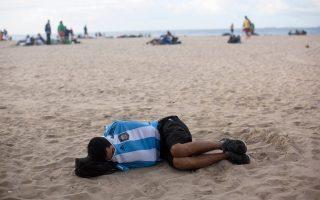 Σαν στο... σπίτι τους αισθάνονται στη Βραζιλία, πλέον, εκατοντάδες Αργεντινοί φίλαθλοι.