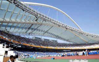 Το εμβληματικό στέγαστρο του Σαντιάγο Καλατράβα στο Ολυμπιακό Στάδιο, το 2004. Σήμερα, δέκα χρόνια μετά, δεν έχει δεχθεί καμία εργασία συντήρησης ή αποκατάστασης.