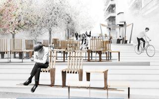 Μια από τις προτάσεις των αρχιτεκτόνων για την ανάπλαση του δημόσιου χώρου στον Βόλο και την απόδοσή του στους πεζούς.