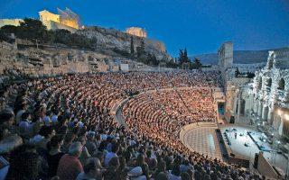 Το Ηρώδειο θα φιλοξενήσει για μία βραδιά (5/9) τη συναυλία του Μάριου Φραγκούλη (δεξιά), τον οποίον θα συνοδεύσει η σοπράνο Sissel.