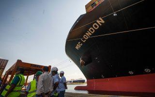 Αφιξη στο λιμάνι του MSC London, του μεγαλύτερου πλοίου μεταφοράς εμπορευματοκιβωτίων που έχει καταπλεύσει στον Πειραιά.
