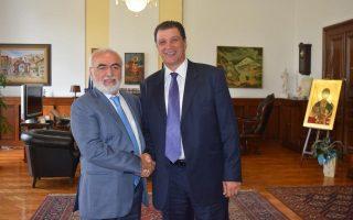 Ο Ιβάν Σαββίδης συναντήθηκε με τον υπουργό Μακεδονίας - Θράκης, Γιώργο Ορφανό.