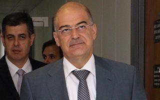 Ο υπουργός Ανάπτυξης Νίκος Δένδιας.