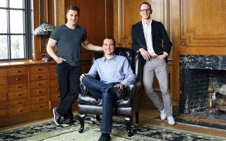 Οι ιδρυτες: Από αριστερά, Brian Chesky, Nathan Blecharczyk και Joe Gebbia.