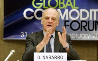 Ο συντονιστής του ΟΗΕ για την καταπολέμηση του ιού Έμπολα δρ Ντέιβιντ Nαμπάρo.