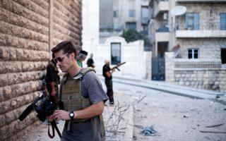 Ο Τζέιμς Φόλει στη διάρκεια αποστολής του στο Αλέπο της Συρίας.
