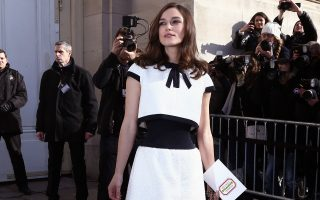 Keira Knightley - Celebrities attend Chanel Fashion Show RTW 2014-2015 in Paris as part of Paris Fashion Week. Paris, 04/03/2014