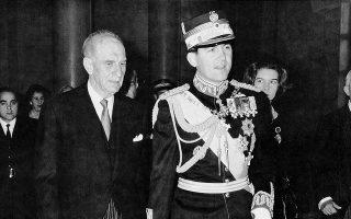 Ο Βασιλεύς Κωνσταντίνος εδέχθη τον πρωθυπουργόν ο οποίος υπέβαλε την παραίτησιν της Κυβέρνήσεως.