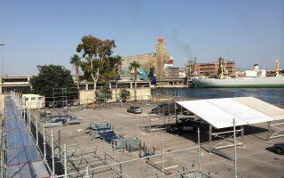 Ο προβλήτας Ε2 του λιμανιού του Πειραιά όπου θα στηθούν οι δημιουργίες των αρχιτεκτόνων της «HELLAΣTOCK», σε πρώιμο ακόμα κατασκευαστικό στάδιο.