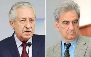 Οι κ.κ. Φ. Κουβέλης (αριστερά) και Σπ. Λυκούδης.